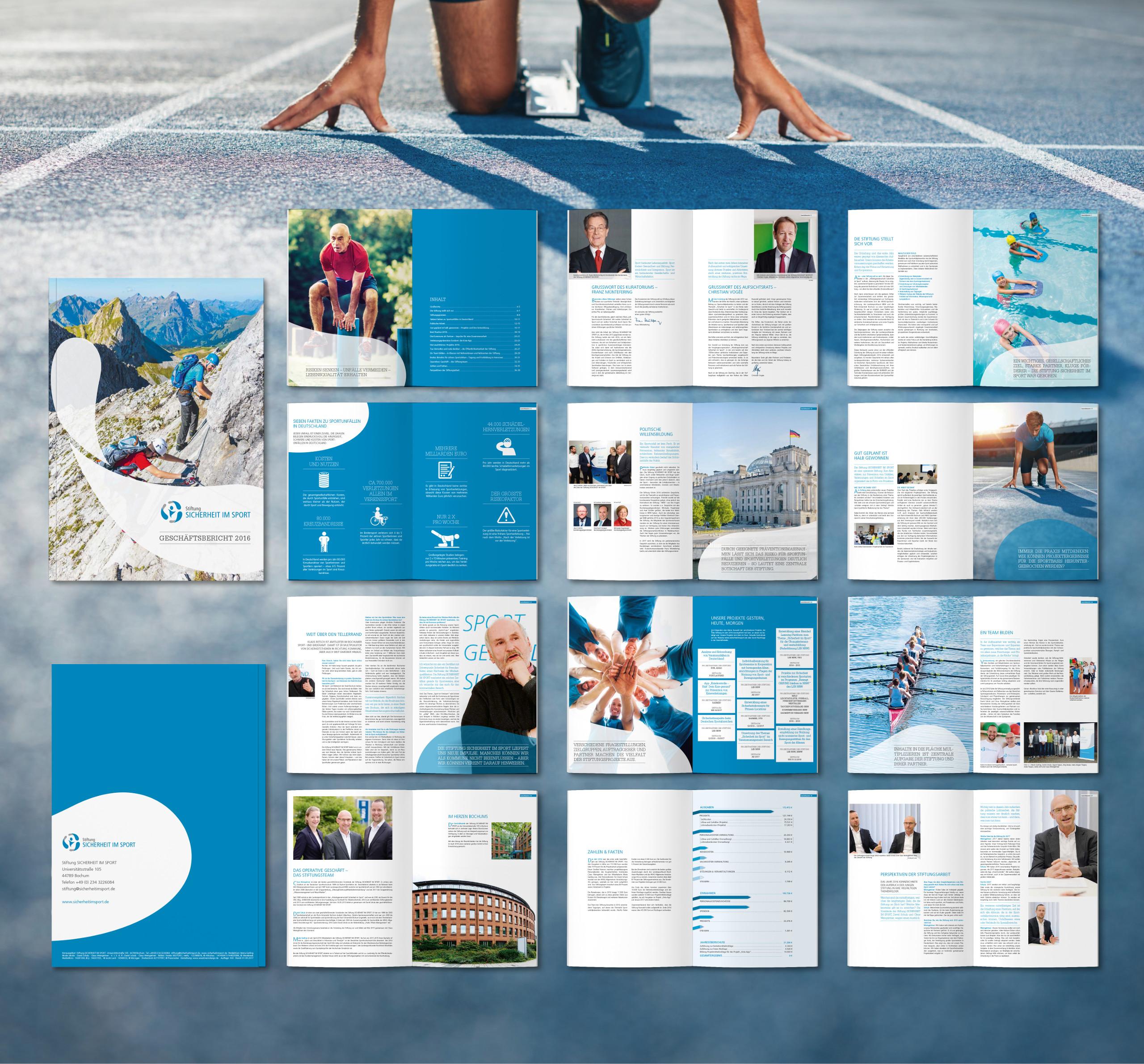 Stiftung Sicherheit im Sport aus Bochum | Woestmann Design | woestmanndesign.de